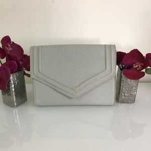 Gray Envelope Clutch